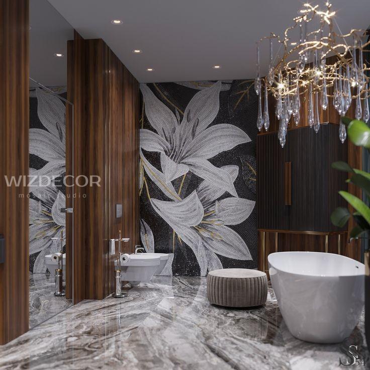 Облицовка мозаикой стен ванной